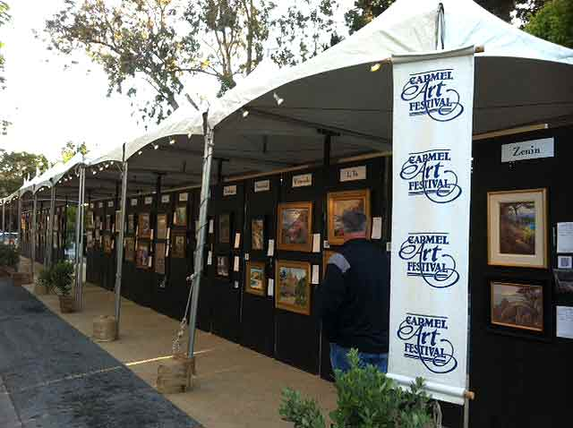 Carmel Art Festival All paintings arrive